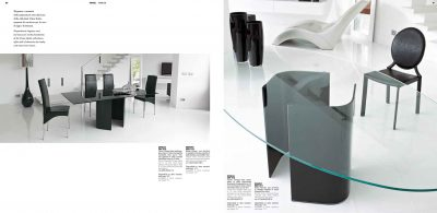 Brands Unico Tables and Chairs, Italy OMEGA