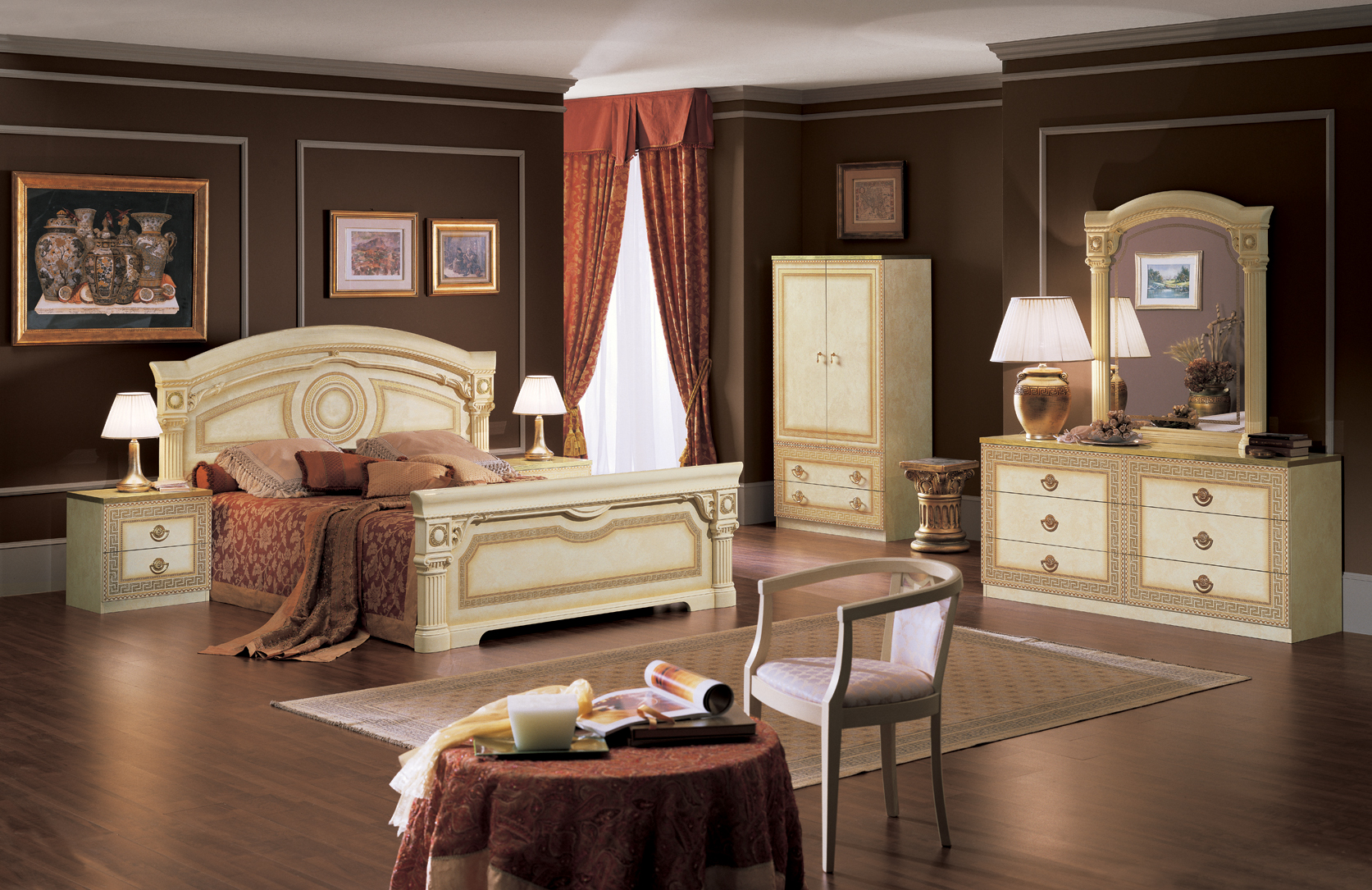 Aida Ivory W Gold Camelgroup Italy Classic Bedrooms