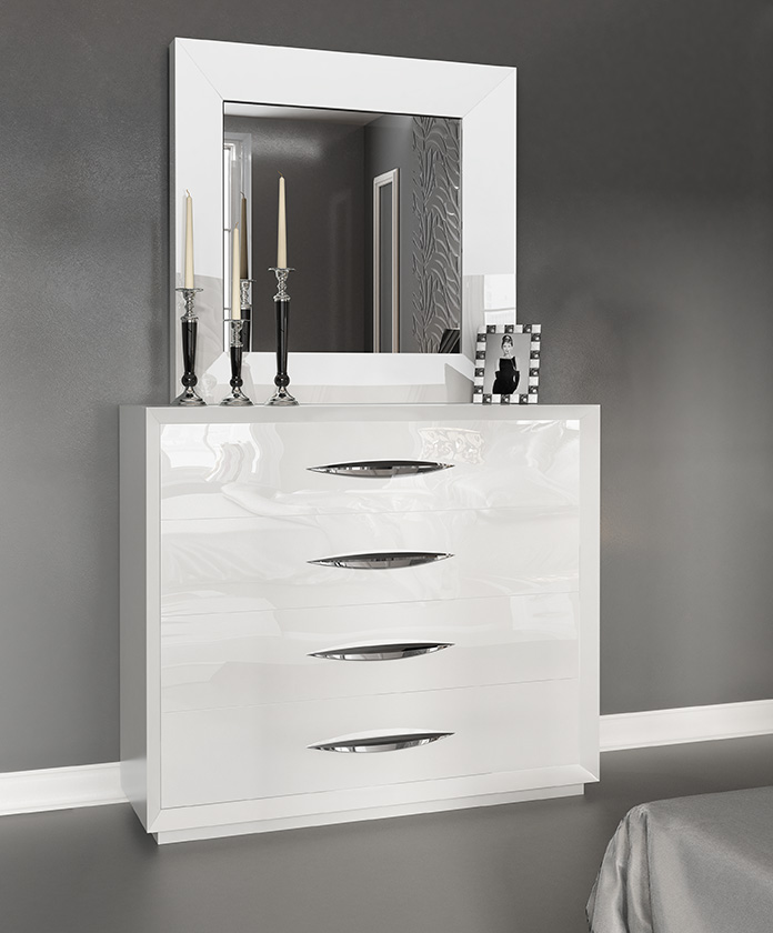 white bedroom dressers. Carmen White Single Dresser and mirror  Modern Bedrooms Bedroom Furniture