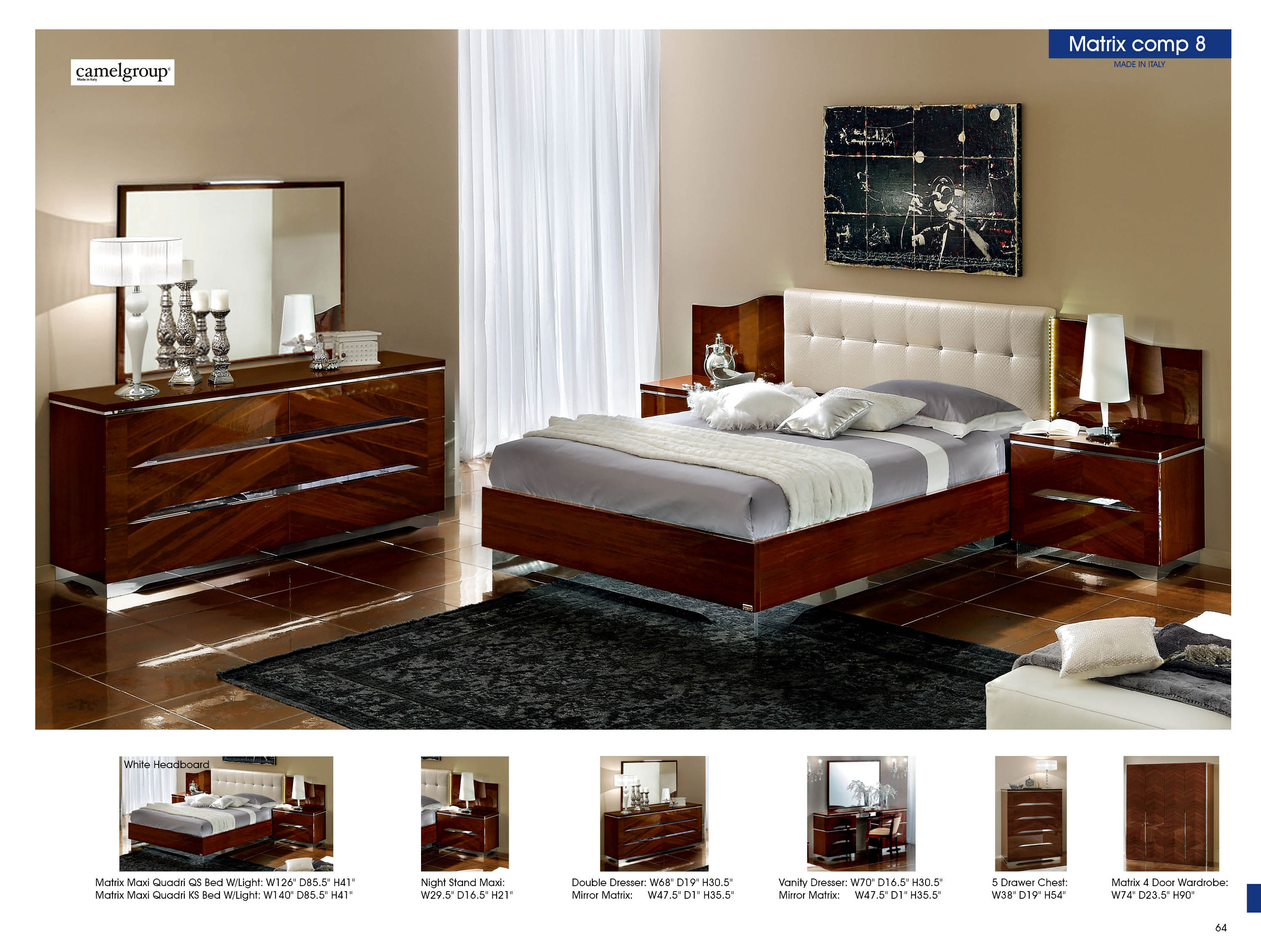italian bedroom furniture image9. 30 Off Matrix Composition 8 W White Headboard Camelgroup Italy Italian Bedroom Furniture Image9