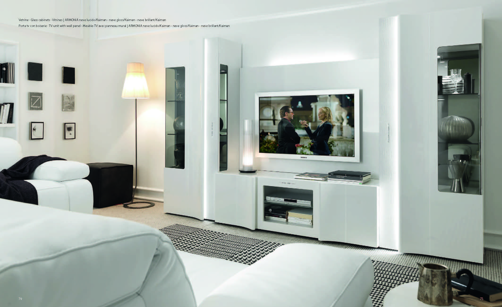 Collections SMA Modern Wall Units Living Room, Italy ARMONIA TV Wall Unit Part 91