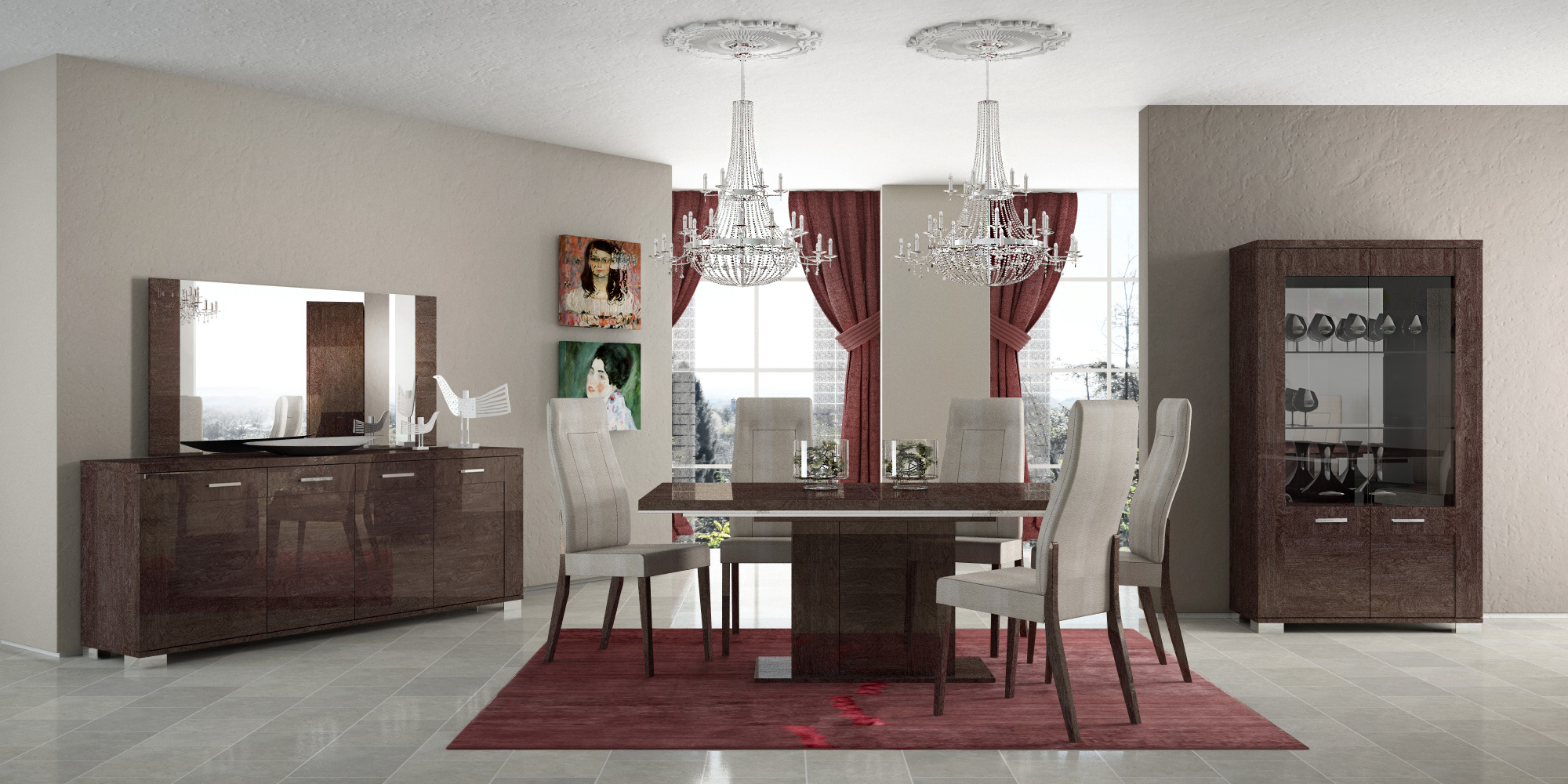 prestige dining, modern formal dining sets, dining room furniture