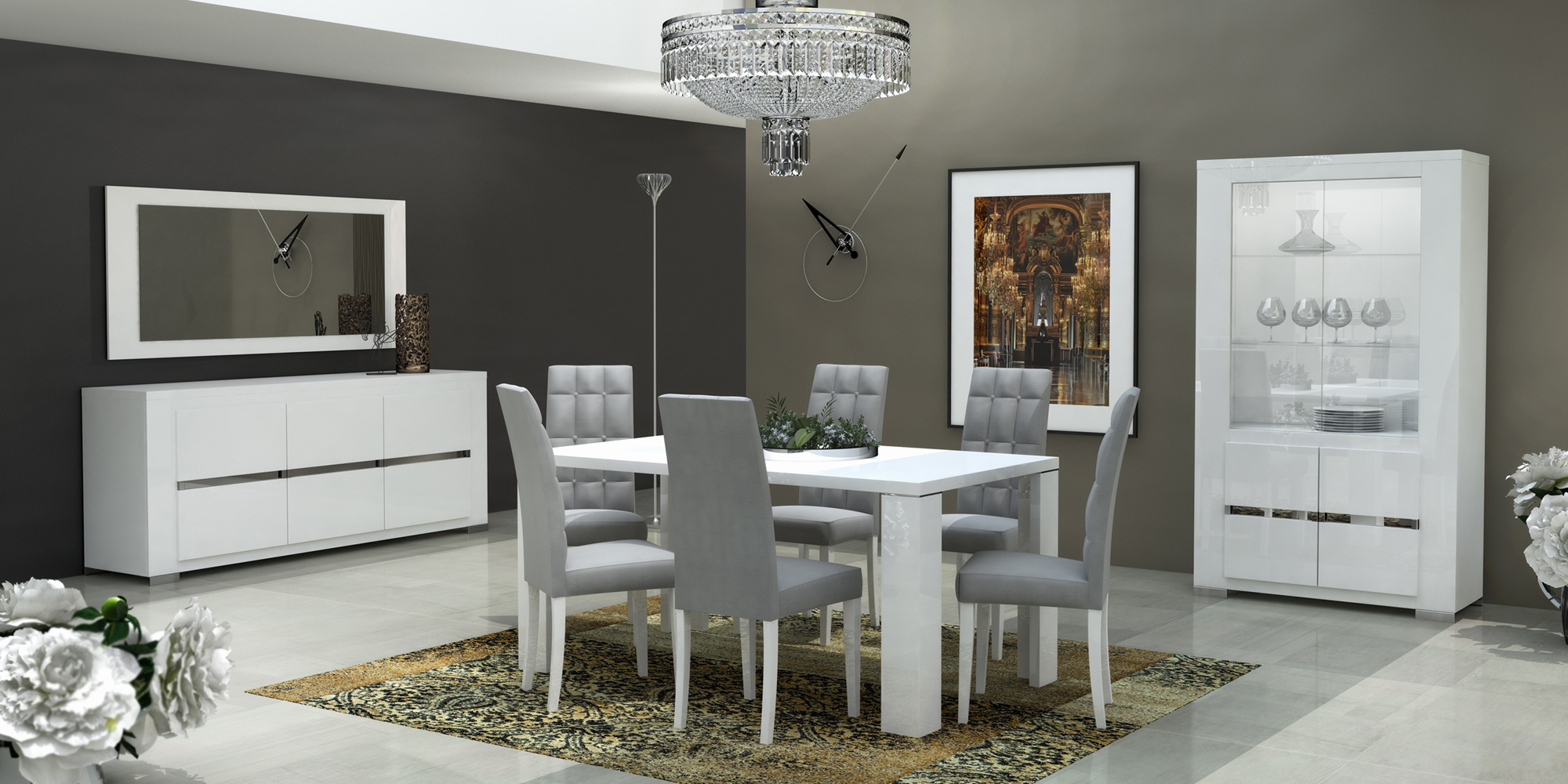 Elegance dining room modern formal dining sets dining for Dining room dresser