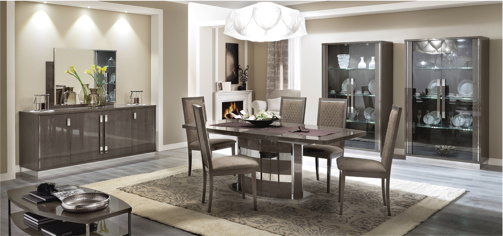 platinum slim dining modern formal dining sets dining