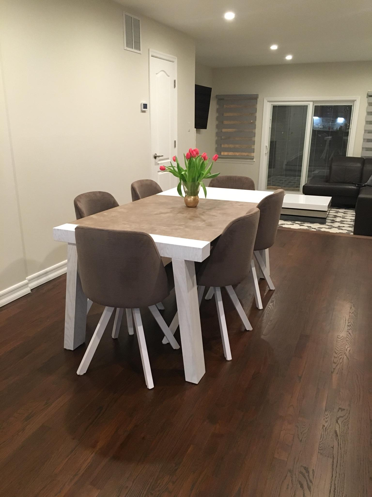 Reyna Dining Room With Albi Chairs Modern Formal Dining