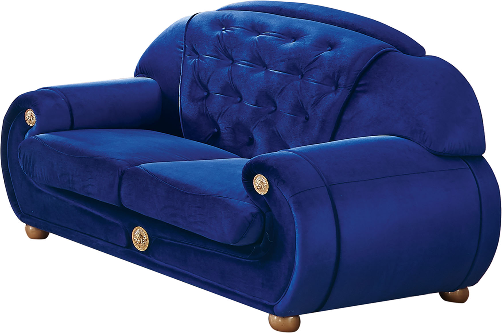 Giza Fabric In Dark Blue Sofas Loveseats And Chairs