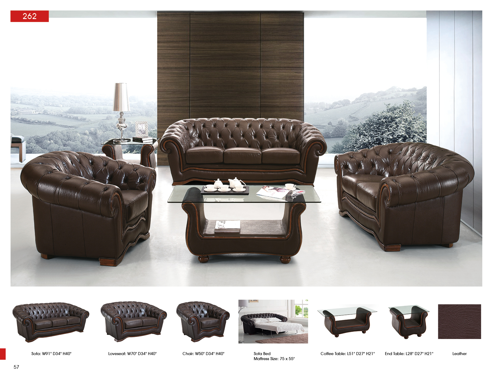 262 Full Leather Sofas Loveseats And Chairs Living Room