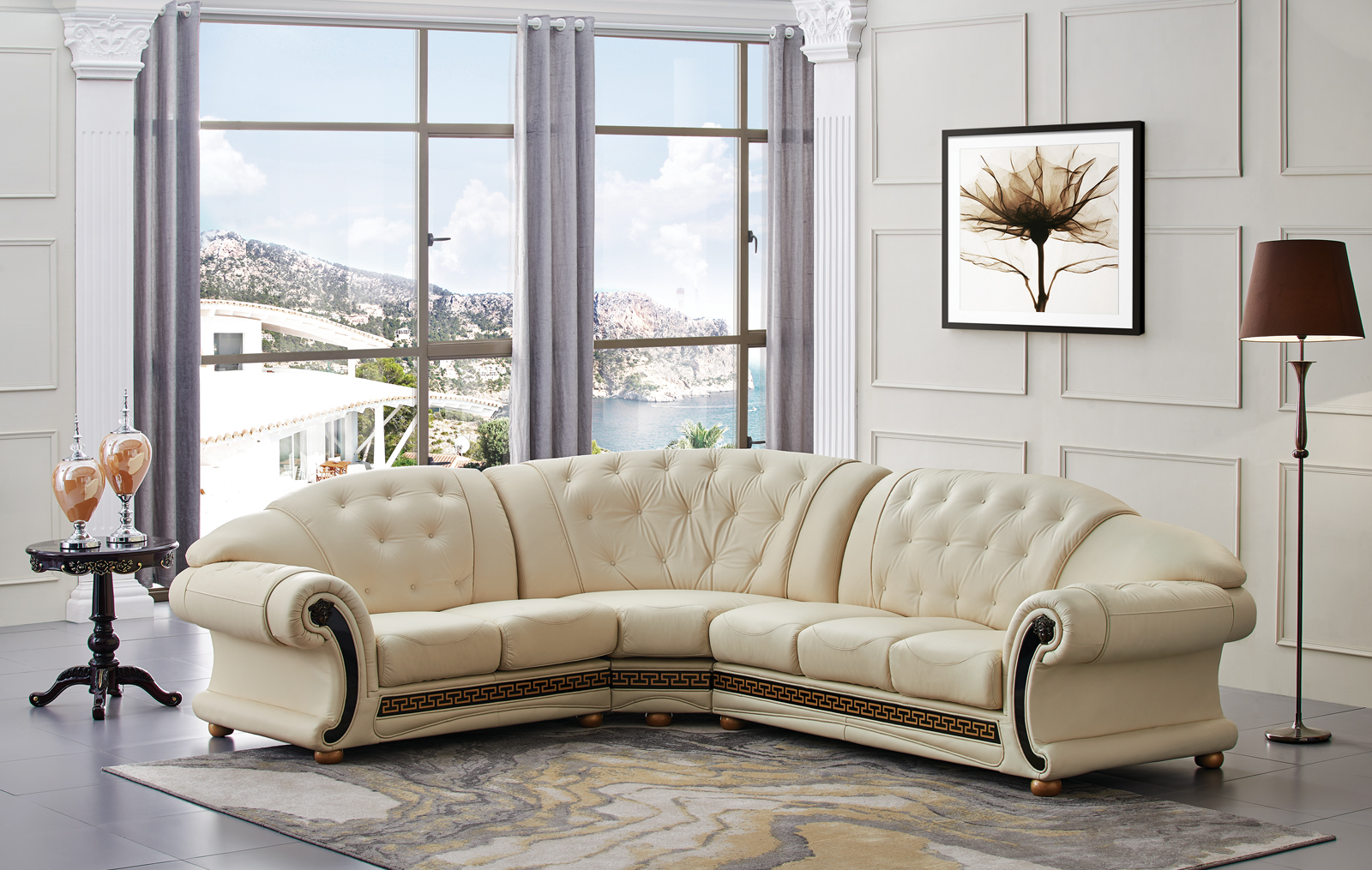 Apolo Sectional Ivory, Sectionals, Living Room Furniture