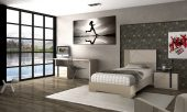 Collections Fenicia  Modern Bedroom Sets, Spain Fenicia Composition 73 / single 3