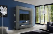 Wallunits Entertainment Centers Prisma Wall Unit Grey