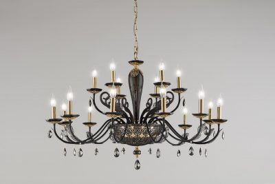 Brands Euroluce Macrame Collection Macramè L12+6 black