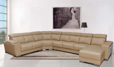 Living Room Furniture Reclining and Sliding Seats Sets 8312 Sectional with Sliding Seats