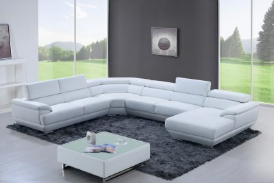 Living Room Furniture Sectionals 430 Sectional Pure White