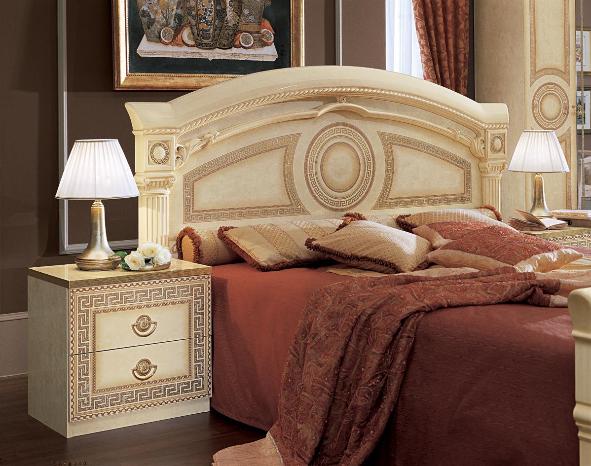 White Bed Wood Dresser