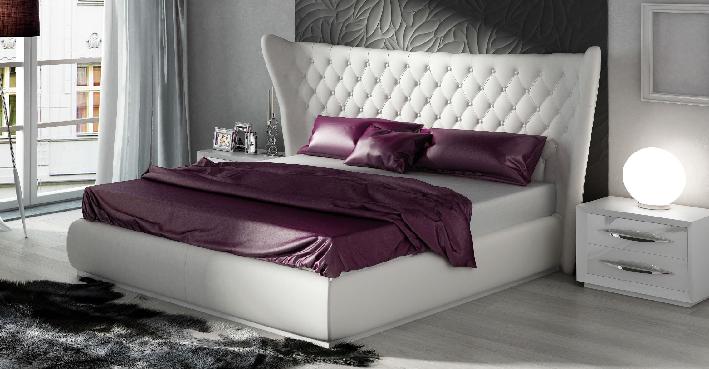 Miami bedgroup modern bedrooms bedroom furniture - Contemporary king bedroom furniture ...