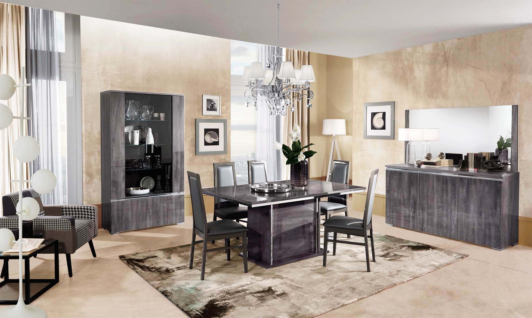 Oxford Dining Modern Room Sets, Modern Dining Room Sets With Buffet
