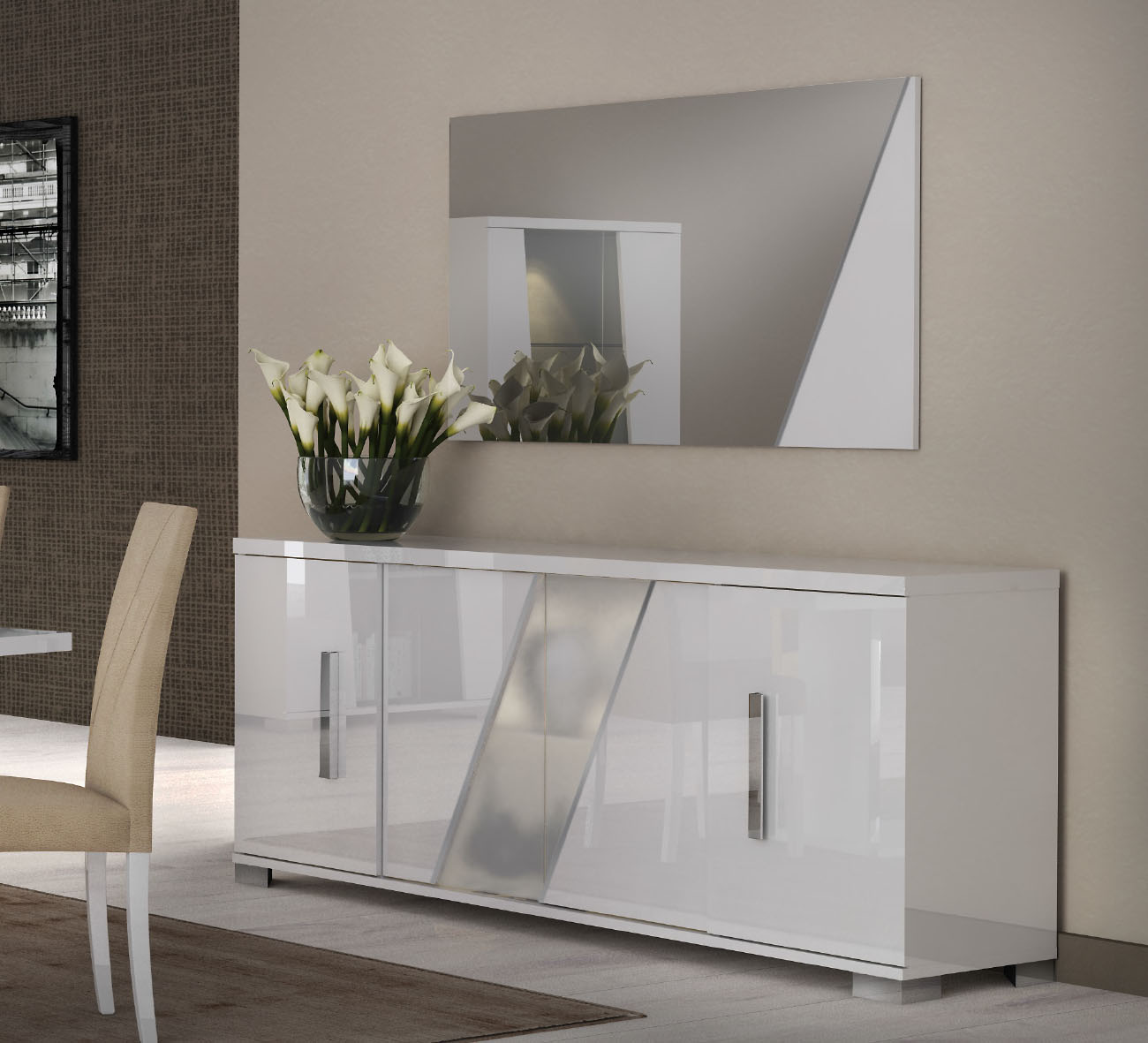 Lisa Dining Room Italy Modern, Modern Dining Room Sets With Buffet