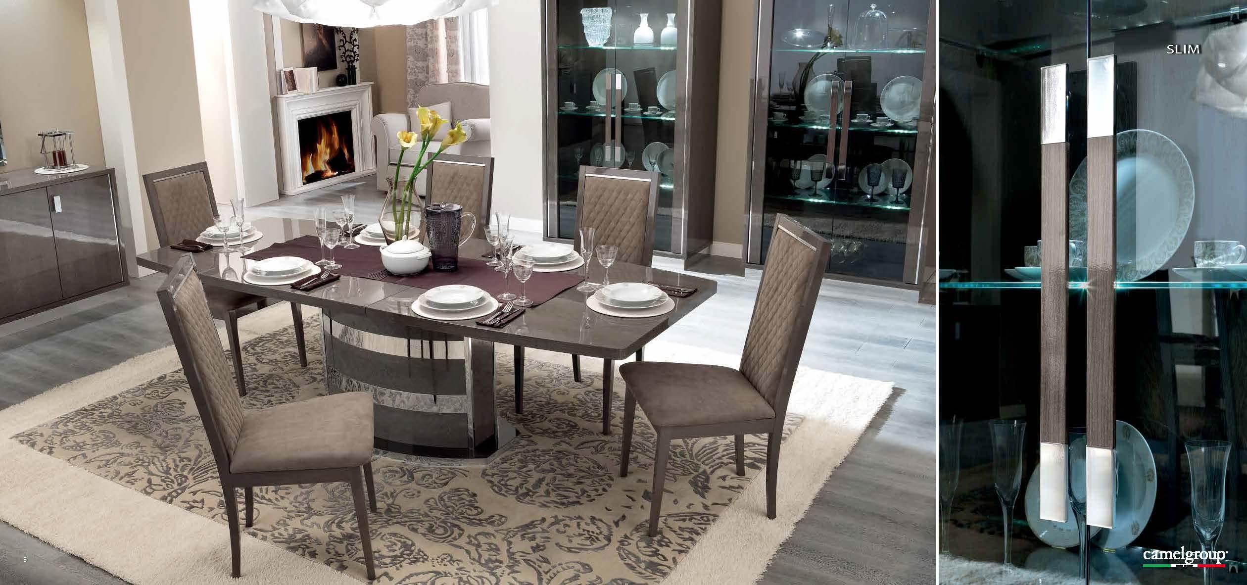 Platinum Slim Dining Room Furniture Modern Formal Sets